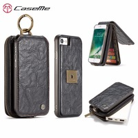 CaseMe Luxury Retro Flip Leather Wallet Phone Bags Cover Case For Apple IPhone 6 6s 7