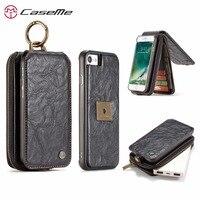 Caseme高級レトロフリップ革財布電話バッグカバーケース用アップルiphone 6 6 s 7プラス取り外し可能な電話ケースcapa上6 s 7 p