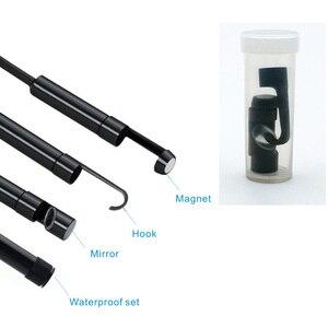 Image 5 - USAFEQLO 1200P 2MP WIFI 내시경 카메라 미니 방수 하드 케이블 검사 카메라 8mm 3in1 안드로이드 Borescope IOS For Iphone