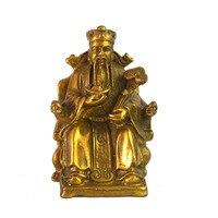 Feng shui Wealth God Tua Peh Kong Fortune,Ru Yi, Success brass statue M1026