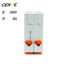 New style solar photovoltaic power generation DC 1000V 2P 40A Circuit breaker dc din rail DC Circuit breaker for PV free ship(China)