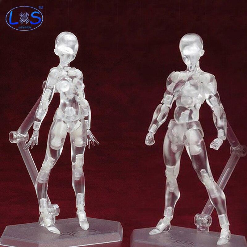 (LONSUN)Anime Brinquedos Cosplay archétype il Transparent Ferrite Figma mobile PVC figurine modèle jouets à collectionner