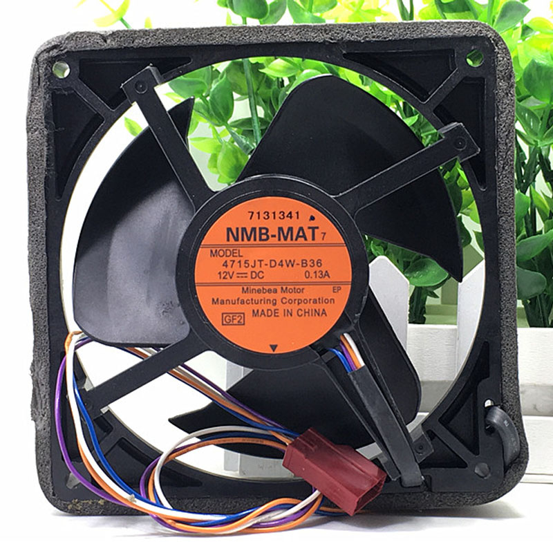 Original NMB 12V 0.13A waterproof fan 4715JT-D4W-B36 12-m refrigerator cooling fan our discovery island 5 dvd