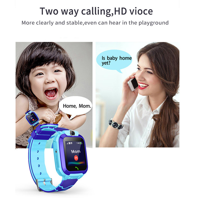 S12 Waterproof Smart Watch for Kids LBS Tracker SmartWatch SOS Call for Children Anti Lost Monitor Baby Wristwatch for Boy girls 3