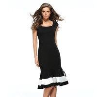 Liva Girl Summer Dress Sleeveless Ladies Slim Trumpet Mermaid Dress White Black Elegant Tunic Office Party