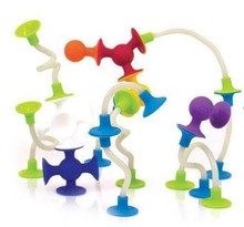 4pcs 8-15cm Spin Stretch Twist Stick Benders with Sucker Suction Cup Soft Silicone/Creative Toys Assembly Building Blocks Kit