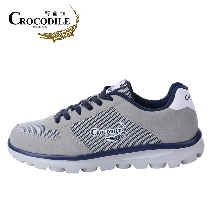 CROCODILE for Men's Run Sneakers Male Mesh Cushioning Walking Shoes Men Athletic Jogging Sport Shoes Height Increase Footwear