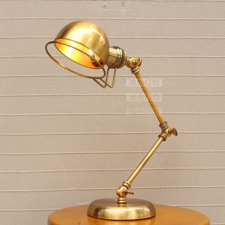 A1 американской моды ретро настольные лампы бронза Коромысла Настольная лампа Прямая продажа с фабрики отель прикроватная тумбочка для спа...