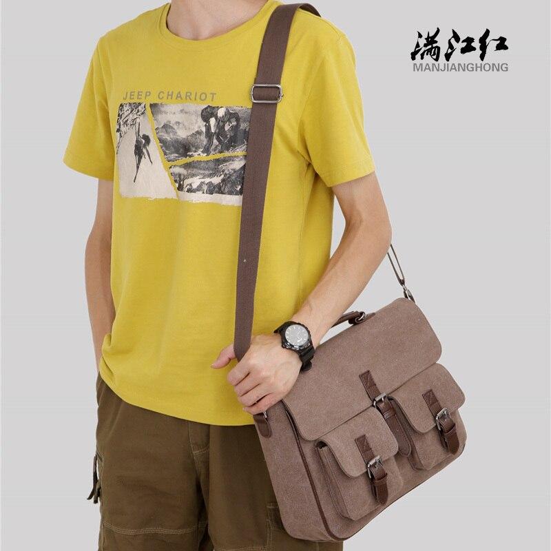 manjianghong canvas moda homens de Exterior : Saco Contínuo