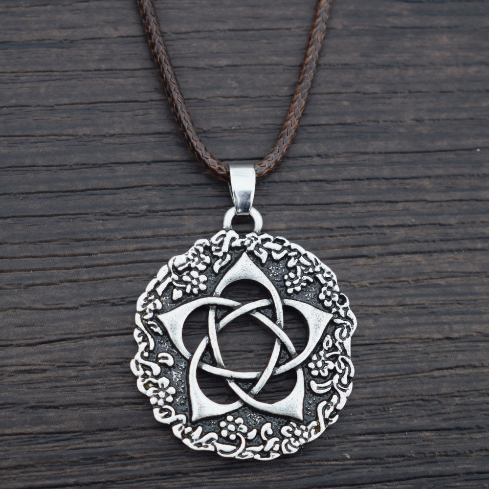 Sanlan lotus flower pentacle flower pentagram pendant necklace in sanlan lotus flower pentacle flower pentagram pendant necklace in chain necklaces from jewelry accessories on aliexpress alibaba group izmirmasajfo