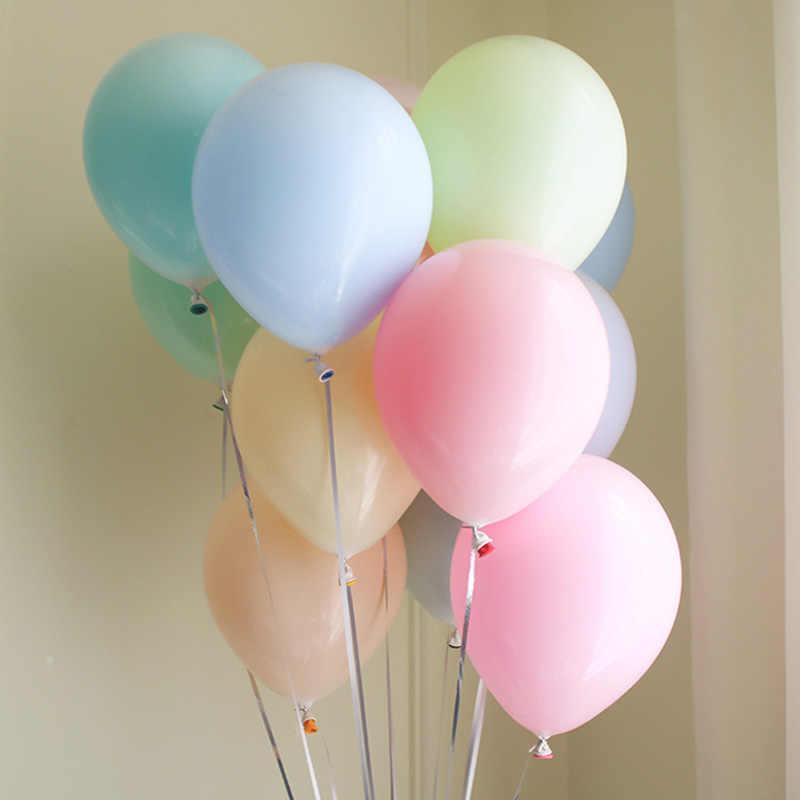 100 ピース/ロット 10 インチマカロンキャンディーラテックスバルーンセット誕生日パーティーの装飾 adlut 結婚式祝賀パーティー用品