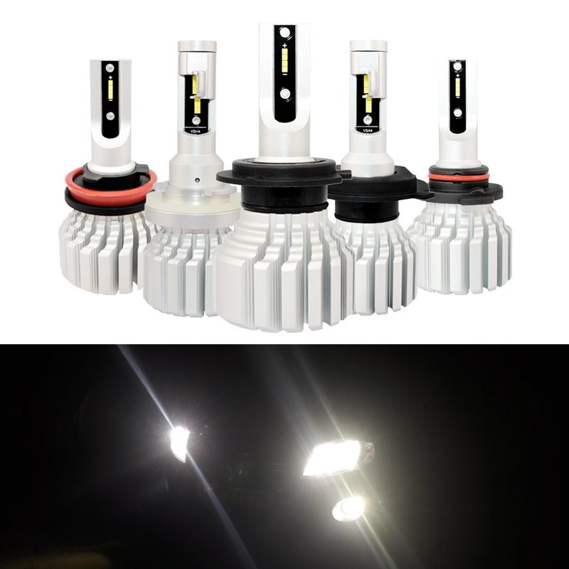 New Upgrade <font><b>CAN</b></font>-<font><b>bus</b></font> <font><b>Led</b></font> Headlight Kits Directs Fits Car Accessories 50W 5000Lm H4 <font><b>H7</b></font> 9005 9006 9012 H13 H15 6000K <font><b>Led</b></font> Lamp Kit image