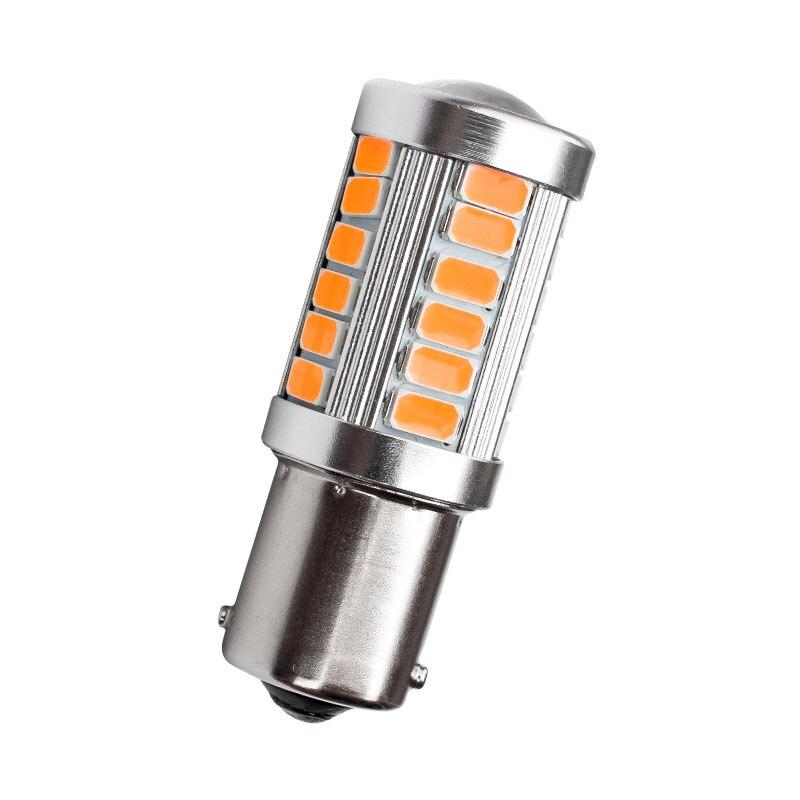 2pcs Auto 1156 BA15s P21W 33 Led Samsung 5630 Smd High Power LED Schwanz Bremse Stop Glühbirne Rot weiß Gelb Auto Lichtquelle