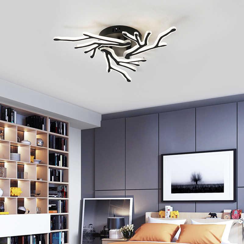 NEO بصيص جديد وصول الأسود إنهاء سقف ليد حديث أضواء لغرفة المعيشة غرفة نوم رئيسية تركيبات AC85-265V مصباح السقف