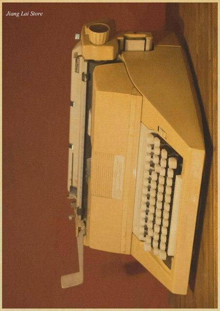Nostalgic Old Typewriter Old Paper Poster Vintage Wall Sticker Nostalgic  Home Decor Bar Pub Cafe Retro Painting