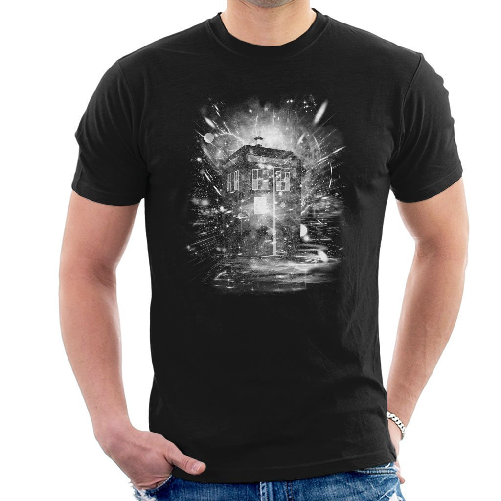 Doctor Who Time and Spaceship Mens T-Shirt