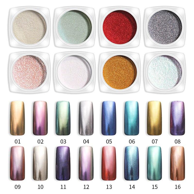 2g/ box Nail Glitter Powder Chameleon Mermaid Mirror Pigment Dust Manicure Art Decorations