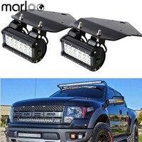 Marloo Bumper 36W LED Fog Lights With Mount Brackets Kit For Ford F150 SVT Raptor Truck 2010 2011 2012 2013 2014