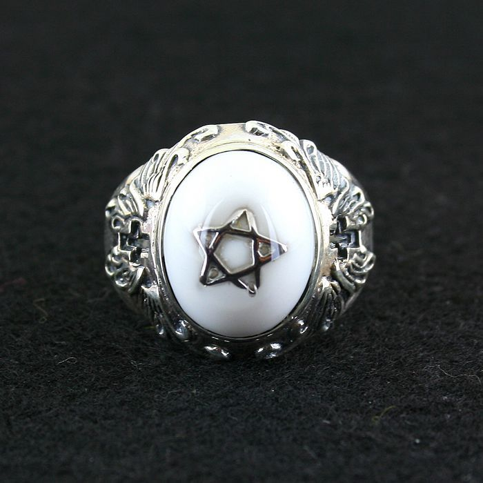 925 pure silver ring gv white pentagram ring male female vintage ring колесные диски replay vv151 6 5x16 5x112 d57 1 et50 s