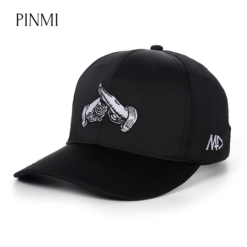 PINMI 2017 Chinese Kongfu Baseball Cap Men Fashion Women Snapback Cap for Men Street Casual Embroidery Design Dad Hat Brand Bone fashion solid color baseball cap for men and women