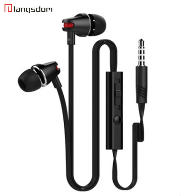 Langsdom JV23 New product hot style headset heavy bass line control earphone metal headphone  free shipping