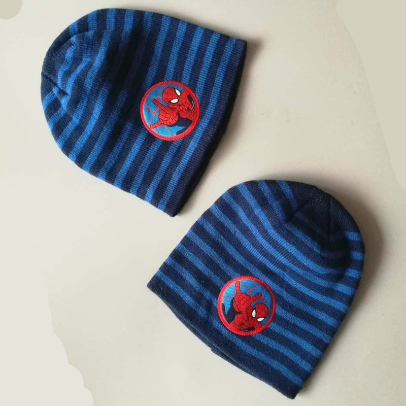 Qualified New Christmas Winter Spring Boys Set Hat Spider Man Tricot Gloves Hot Hat Children Cartoon Cap Hats & Caps