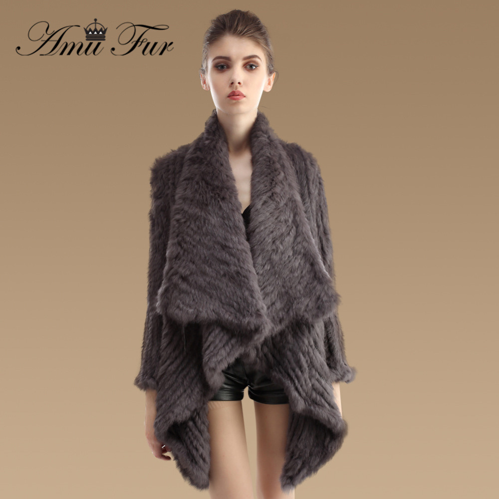 Online Buy Wholesale knitted rabbit fur coat from China knitted ...