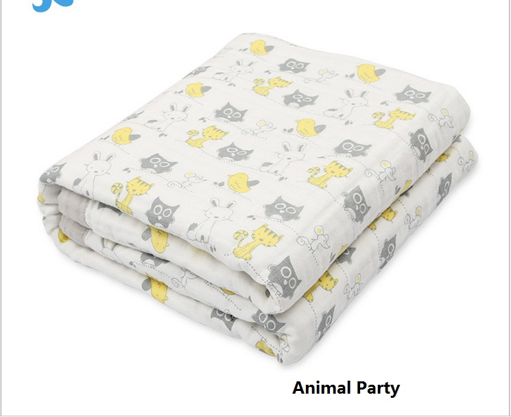 Newborn Baby Blanket 4layers 100% Muslin Cotton Baby Bath Towel Muslin Cotton Infant Gauze Baby Swaddle Bedding Quilt 120*160cm цена