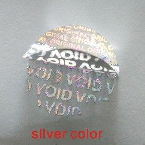 Image 2 - Custom hologram stickers/GARANTIE VERVALT INDIEN VERWIJDERD security Originele Zilveren laser Holografische label afdrukken 2*2 CM 2000 Stks/zak