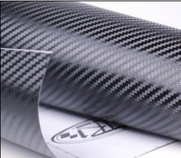 3D Carbon Fiber Vinyl Sheet Wrap Wrapping Twill Weave 300Mm X 1270Mm For TOYATO SUZUKI