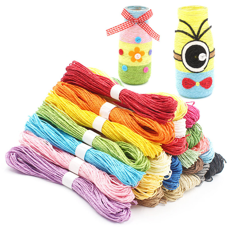 5 Bundles 30Meters 2mm Colorful Paper Rope Handmade DIY Kindergarten Craft Toys String Scrapbook Birthday Party Crafts Supplies