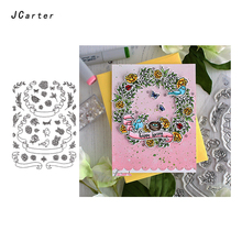 JC Large Wreath Metal Cutting Dies and Rubber Stamps for Scrapbooking Craft Cut Stencil Card Make Album Sheet Decoration