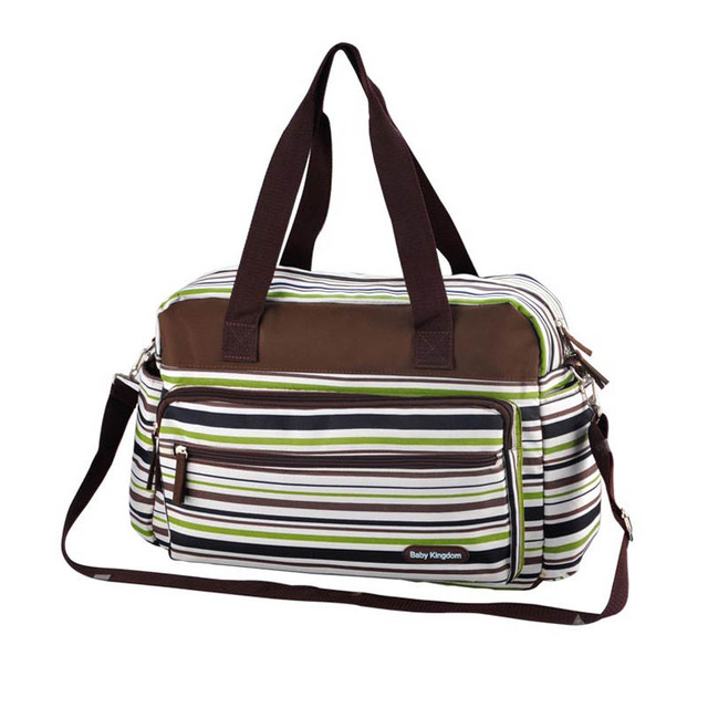 Brand Durable Baby Diaper Bag Antibacterial Striped Travel Mother Bag Baby Bags Multifunctional Maternity Bags