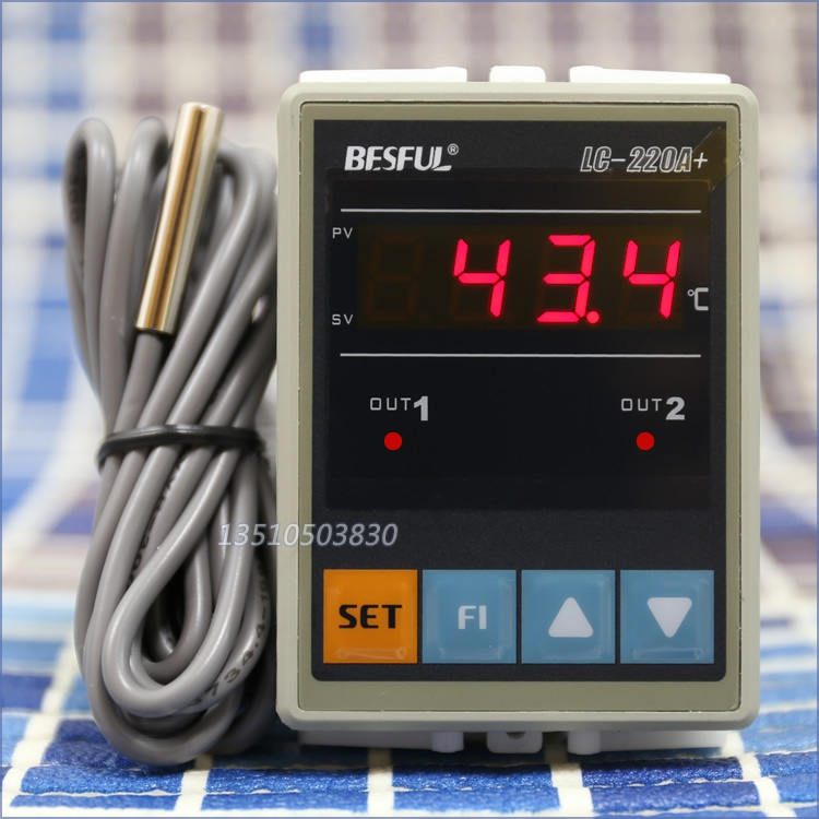 BESFUL BESFUL LC-220A + solar water temperature dual temperature controller thermostat temperature controller
