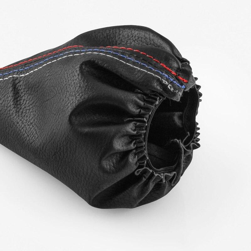 2019 2pcs Car Leather Gear Head Shift Knob Cover Handbrake Grip Car Hand Brake Covers Case