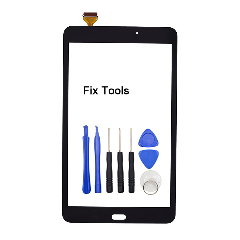 1Pcs For Samsung Galaxy Tab A 8.0 (2017 Version) T380 T385 Touch Screen Digitizer Front Glass Panel Replacement+Adhesive+Tools 8 for samsung galaxy tab a 8 0 2017 sm t380 sm t385 t380 t385 lcd display touch screen digitizer glass assembly free tools
