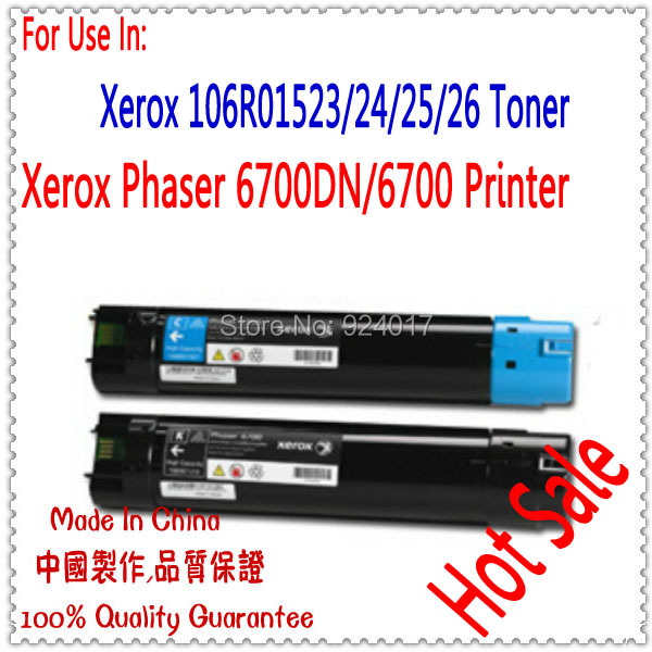 Compatible Xerox 6700 Toner Refill,Toner Cartridge For Xerox Phaser 6700DN 6700 Printer,106R01523 106R01524 106R01525 106R01526 phaser 7500 compatible laser printer spare parts reset for xerox 7500 toner cartridge chip