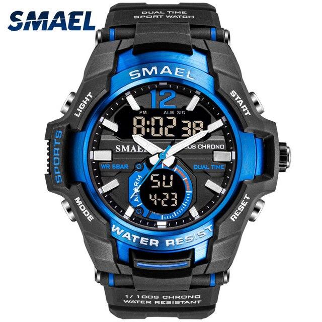 2019 Relógio Do Esporte Dos Homens Relógios SMAEL 50 M Relógio de Pulso À Prova D' Água Relogio masculino Militar 1805 Relógio Digital Militar Do Exército dos homens
