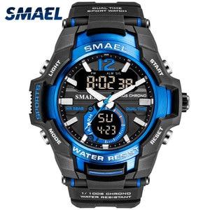 Image 1 - Men Watches SMAEL Sport Watch Waterproof 50M Wristwatch Relogio Masculino Militar 1805 Mens Clock Digital Military Army Watch