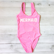 MERMAID Bikini Letter Print Thong One Piece Swimwear Women Sexy Low Back swim suit Bodysuit  badpak traje de bano mujer Jumpsuit
