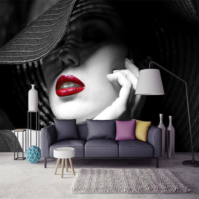 Custom 3D Photo Wallpaper Modern Simple Fashion Painting Living Room Bedroom Sofa Background Non-woven Fabric Murals Wall paper tapety fashion black wallpapers 3d non woven grey sand wall murals living room tv sofa background wall paper roll for walls