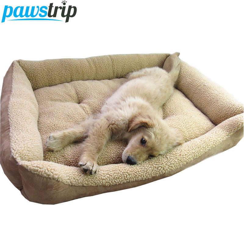 Extra Large Dog Bed Miękki Berber Fleece Puppy Poduszka Winter Warm Pet Dog House Zmywalny M-XL