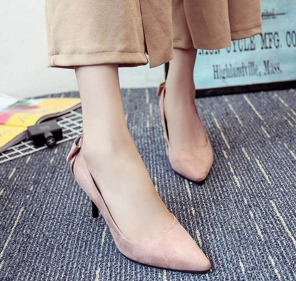 Free shipping 2016 autumn female fashion lady shoes new shallow mouth with fine with elegant black