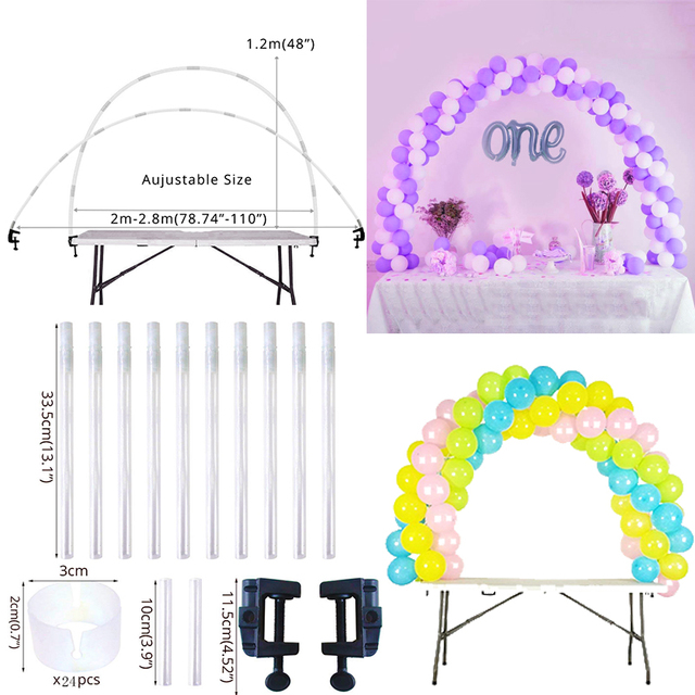 Arco Do Casamento balão Coluna Stand Kits Globos Suporte Base de Moldura Acessórios Fontes Do Partido de Casamento Decoração de Balões De Aniversário