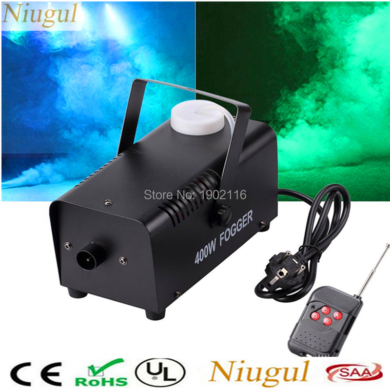Niugul Wireless Remote Control 400W Mini Stage Smoke Machine/Disco Home Party 400W Fog Machine DJ Equipments Remote 400W Fogger 2pcs lot shehds mini 400w rgb 3in1 smoke machine for dj disco party weedding stage fogger machine wireless remote control