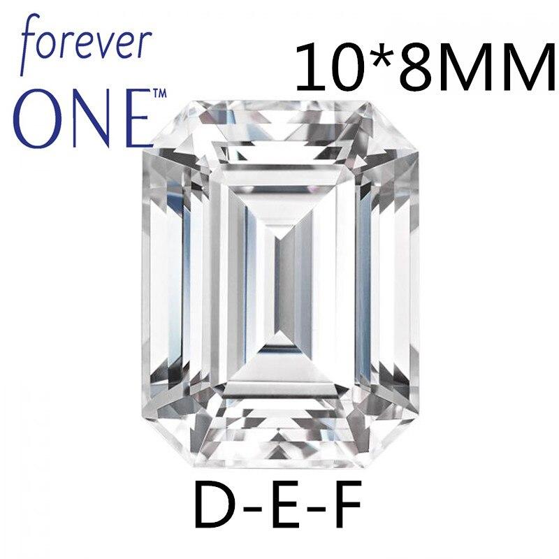 Certified Charles Colvard Forever One Loose Moissanite Stone 3CT Emerald Cut VVS VS D E F Colorless Passing Diamond Tester цена