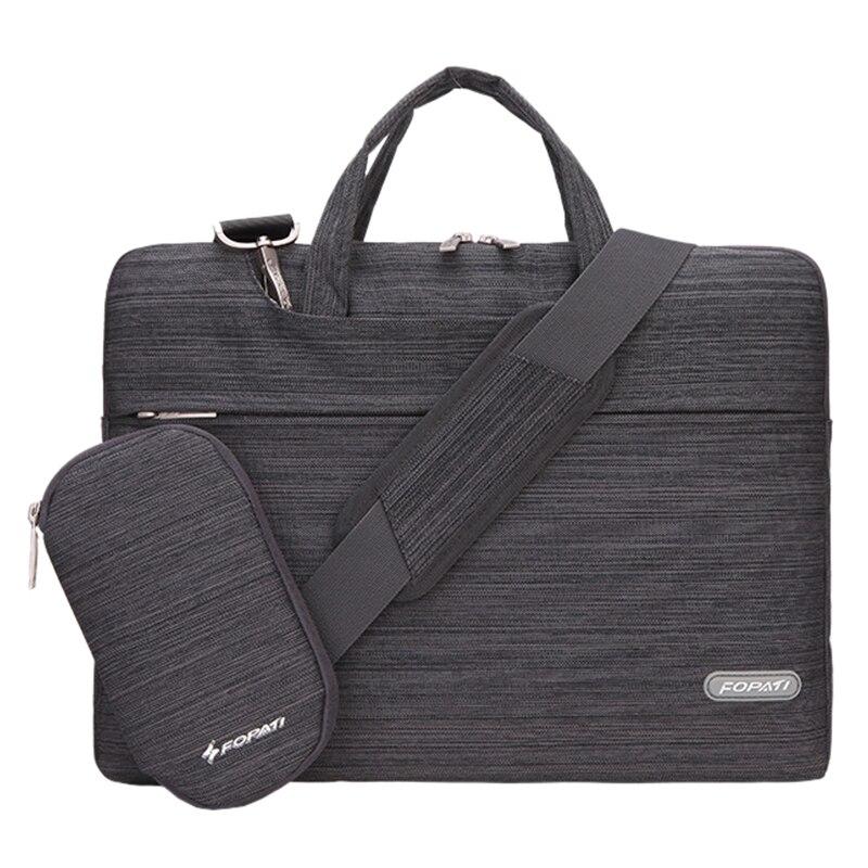 11 inch Laptop Bag Notebook Shoulder Messenger Bag Men Women Handbag Sleeve (Suit Dark Gray)