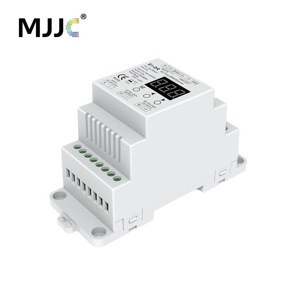 Dimmer 220 V Din AC 230 V 110 V 120 V 288 W 2 Canali Triac Uscita DMX Dimmer Dual Channel Silicon DMX 512 Controller S1-DR