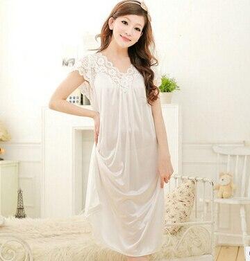 Promotion ! 2016 pijamas mujer lengthen elegant princess nightgown soft smooth viscose cozy sleepwear