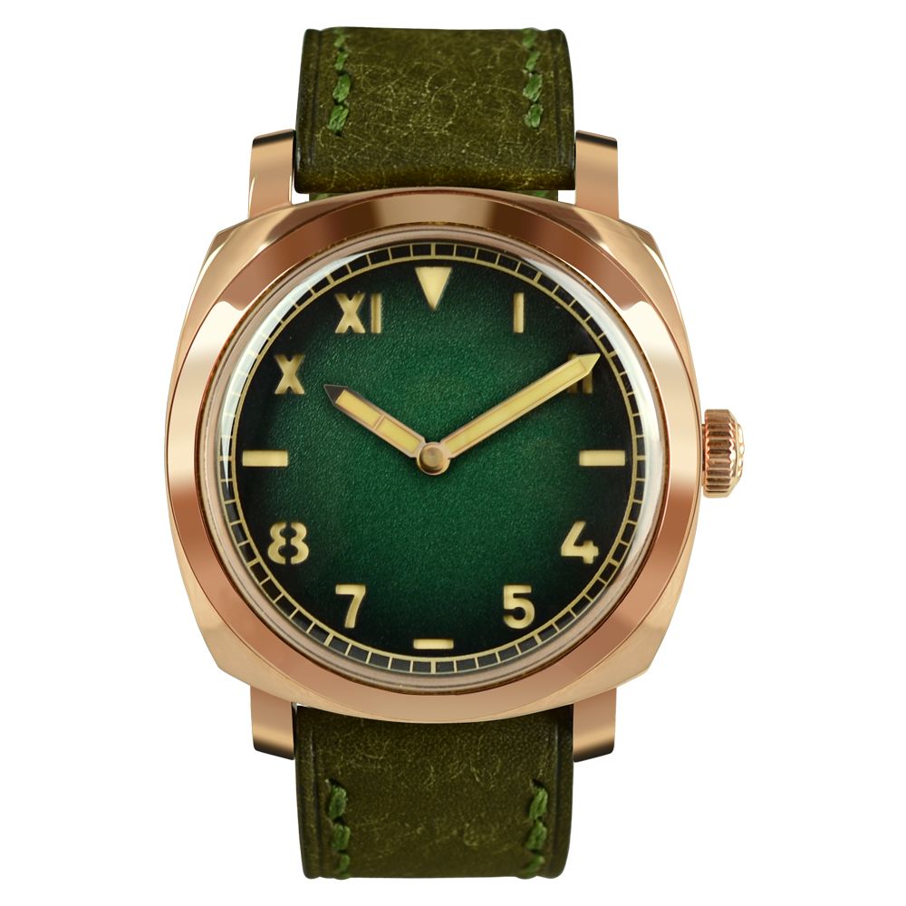 San Martin Vintage CuSn8 Bronze Watch Automatic Watches Diving Wristwatch 100m Water Resistant Luminous Hands Self-Wind Watch